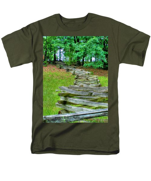 Fence Line Men's T-Shirt  (Regular Fit) by Dan Stone