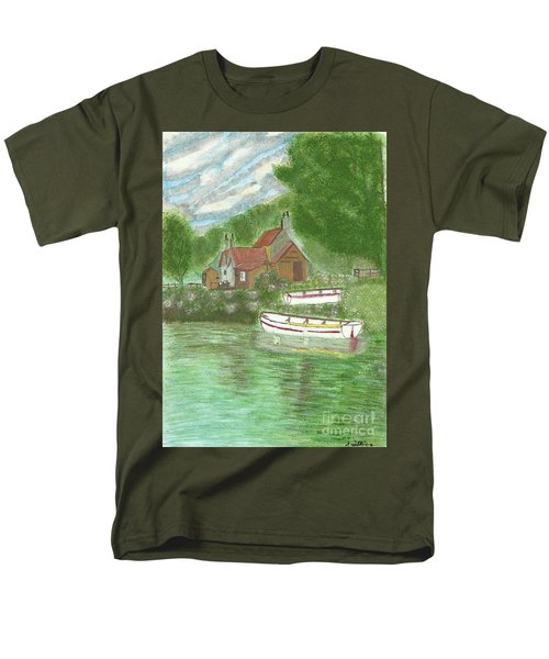 Men's T-Shirt  (Regular Fit) featuring the painting Ferryman's Cottage by Tracey Williams