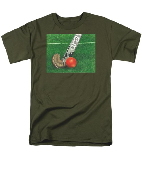 Men's T-Shirt  (Regular Fit) featuring the drawing Field Hockey by Troy Levesque