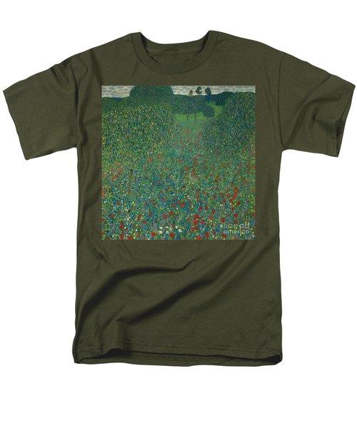 Field Of Poppies Men's T-Shirt  (Regular Fit) by Gustav Klimt