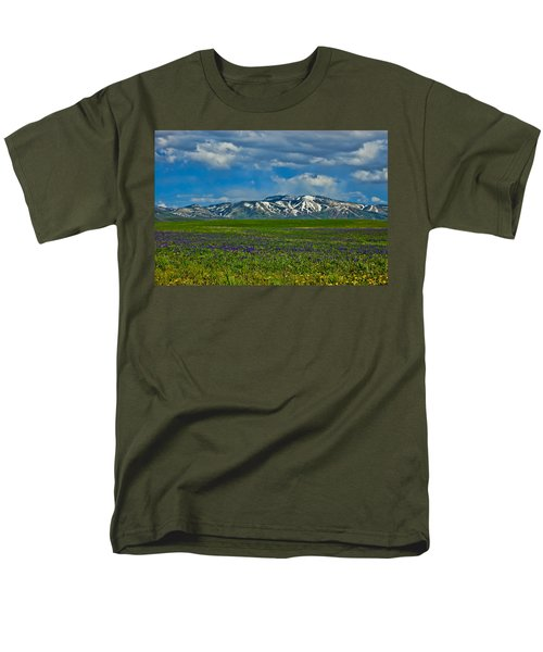 Field Of Wildflowers Men's T-Shirt  (Regular Fit) by Don Schwartz