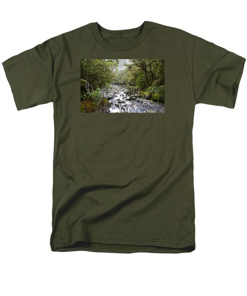 Fiordland National Park New Zealand Men's T-Shirt  (Regular Fit) by Venetia Featherstone-Witty