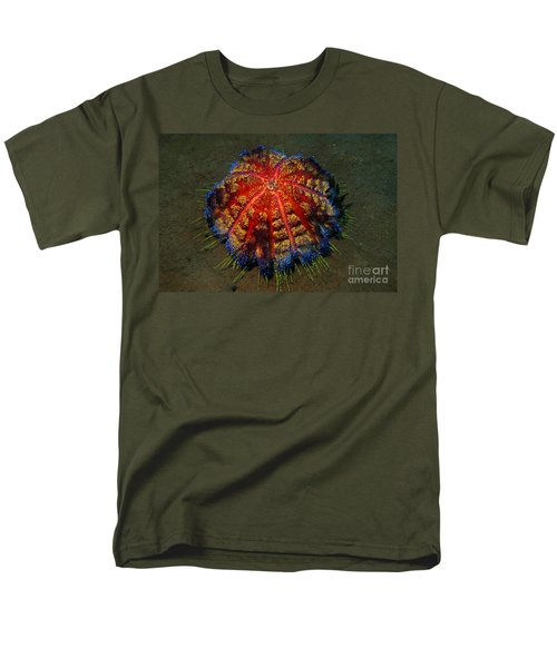 Fire Sea Urchin Men's T-Shirt  (Regular Fit) by Sergey Lukashin