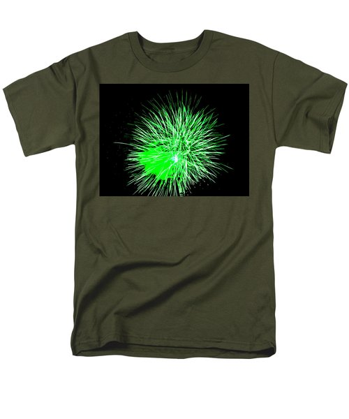 Fireworks In Green Men's T-Shirt  (Regular Fit) by Michael Porchik