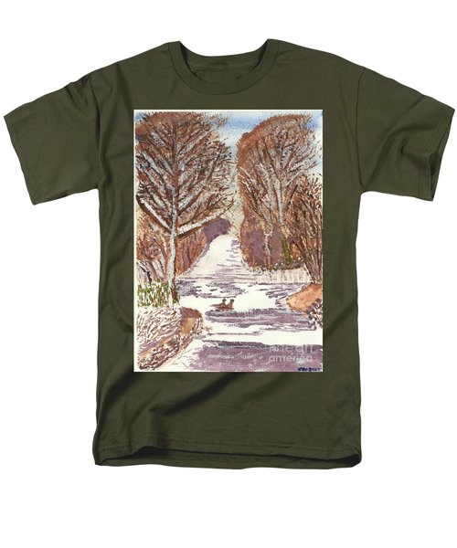 Men's T-Shirt  (Regular Fit) featuring the painting First Footprints by Tracey Williams