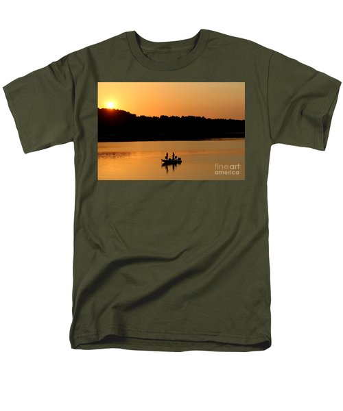 Men's T-Shirt  (Regular Fit) featuring the photograph Fishing Silhouette  by Kathy  White