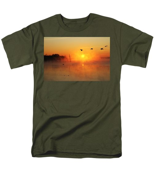 Flight At Sunrise Men's T-Shirt  (Regular Fit) by Roger Becker