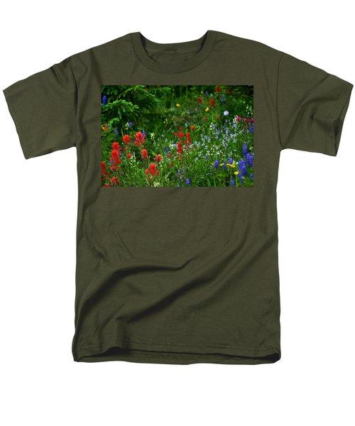 Floral Explosion Men's T-Shirt  (Regular Fit) by Jeremy Rhoades