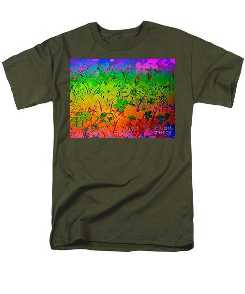 Men's T-Shirt  (Regular Fit) featuring the photograph Floral Rainbow by Judy Palkimas