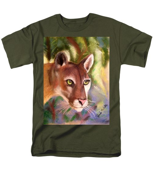 Florida Panther Men's T-Shirt  (Regular Fit) by Renee Michelle Wenker