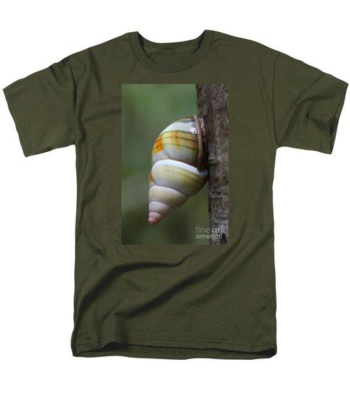 Men's T-Shirt  (Regular Fit) featuring the photograph Florida Tree Snail by Paul Rebmann