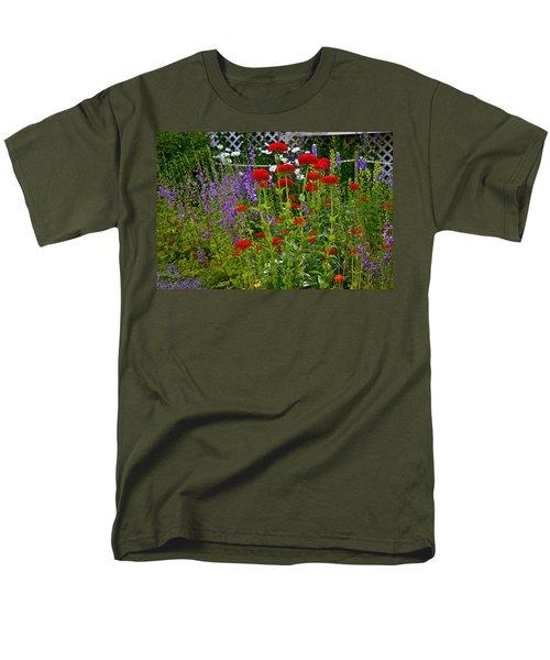 Flower Garden Men's T-Shirt  (Regular Fit) by Johanna Bruwer
