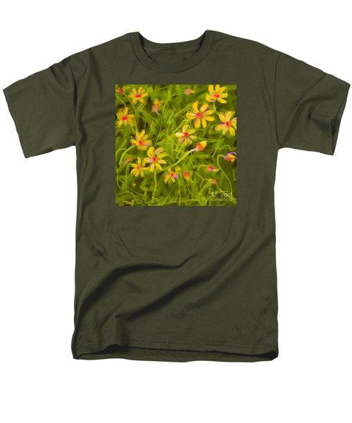 Men's T-Shirt  (Regular Fit) featuring the painting Flowerfield by Go Van Kampen
