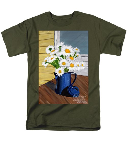Flowers In A Teapot Men's T-Shirt  (Regular Fit) by Laura Forde