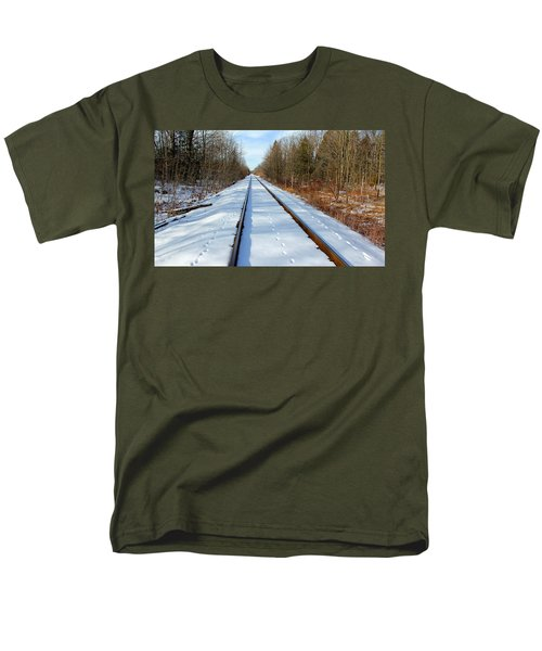 Men's T-Shirt  (Regular Fit) featuring the photograph Follow Your Own Path by Debbie Oppermann