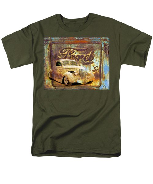 Ford Coupe Rust Men's T-Shirt  (Regular Fit) by Steve McKinzie