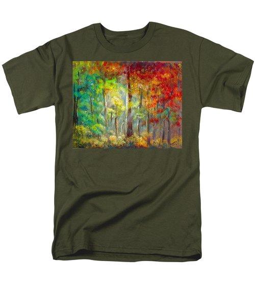 Men's T-Shirt  (Regular Fit) featuring the painting Forest by Bozena Zajaczkowska
