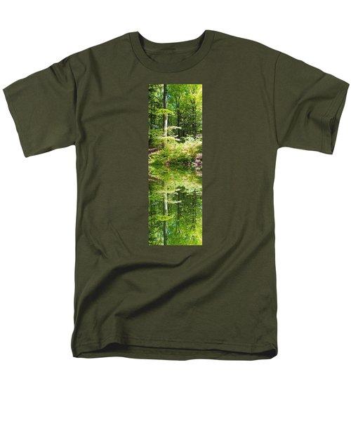 Men's T-Shirt  (Regular Fit) featuring the photograph Forest Reflections by John Stuart Webbstock
