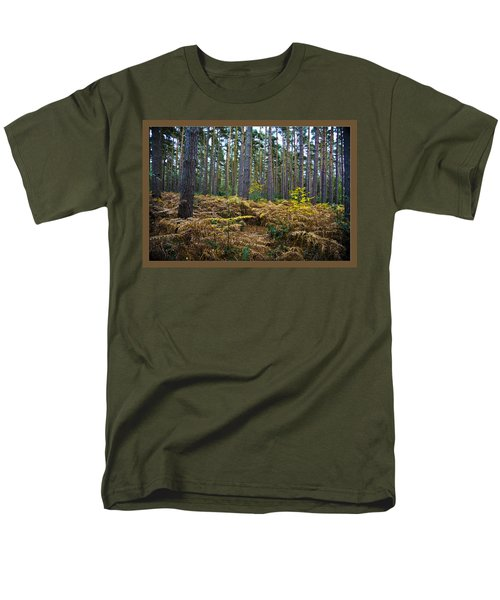 Men's T-Shirt  (Regular Fit) featuring the photograph Forest Trees by Maj Seda
