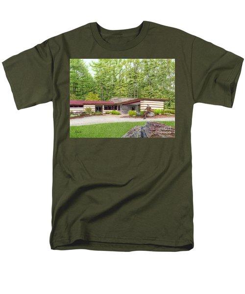 Frank Lloyd Wright At Duncan House Men's T-Shirt  (Regular Fit) by Albert Puskaric