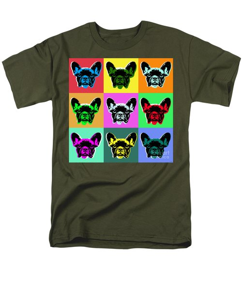French Bulldog Men's T-Shirt  (Regular Fit) by Jean luc Comperat