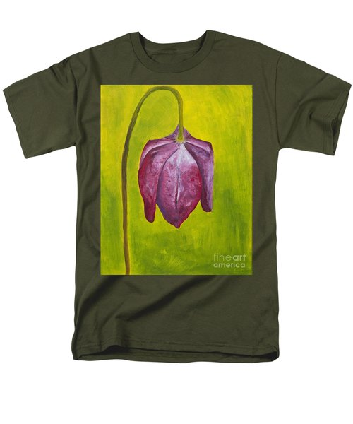Fritillary Flower Men's T-Shirt  (Regular Fit) by Lana Enderle