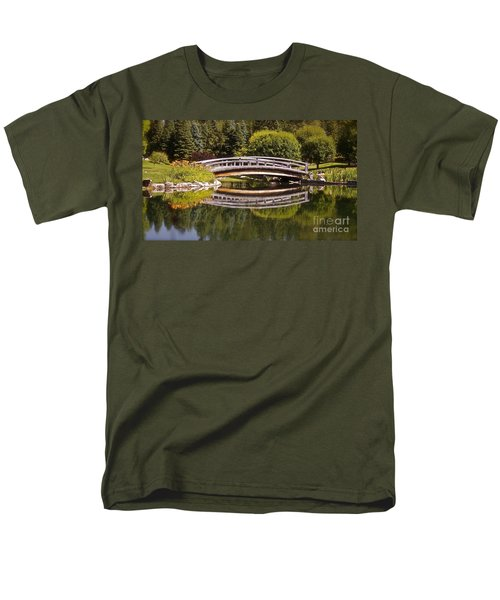 Garden Bridge Men's T-Shirt  (Regular Fit) by Linda Bianic