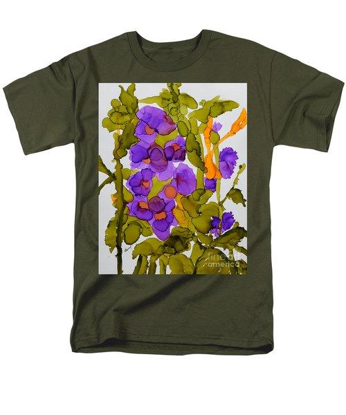 Garden Of Hollyhocks Men's T-Shirt  (Regular Fit)