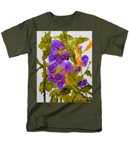 Garden Of Hollyhocks Men's T-Shirt  (Regular Fit) by Vicki  Housel