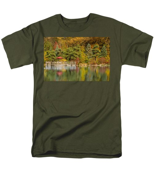 Men's T-Shirt  (Regular Fit) featuring the photograph Garden Of Reflection by Sebastian Musial