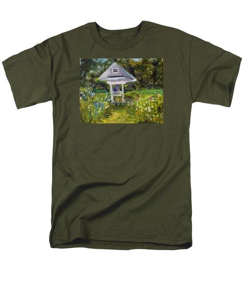 Men's T-Shirt  (Regular Fit) featuring the painting Garden Path by Michael Helfen