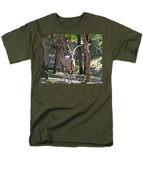 Gemsbok In The Woods Men's T-Shirt  (Regular Fit) by CML Brown