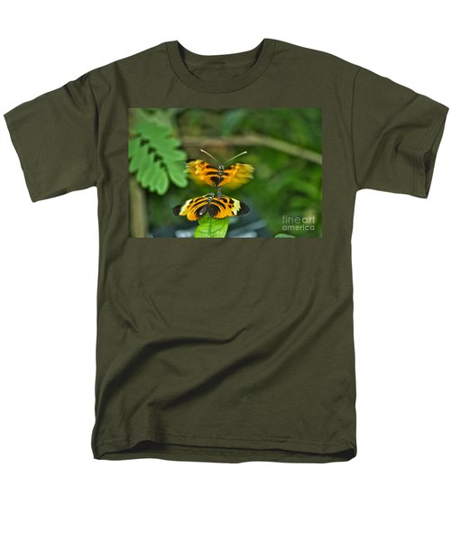 Men's T-Shirt  (Regular Fit) featuring the photograph Gentle Butterfly Courtship 03 by Thomas Woolworth