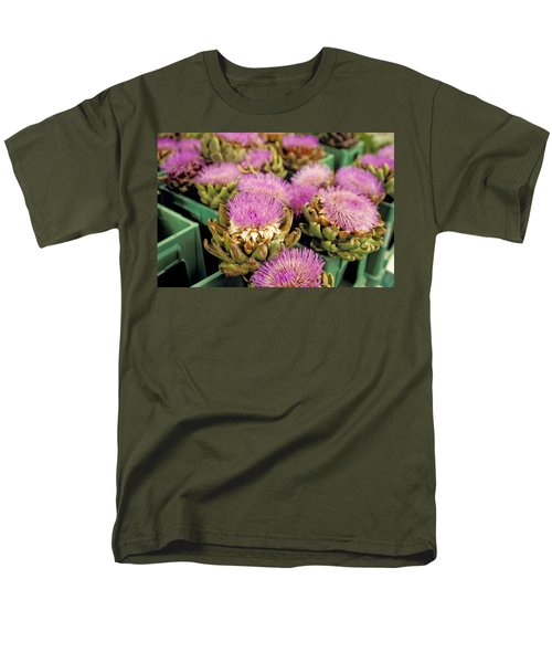 Germany Aachen Munsterplatz Artichoke Flowers Men's T-Shirt  (Regular Fit) by Anonymous
