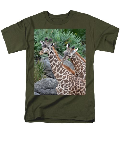 Giraffe Massage Men's T-Shirt  (Regular Fit) by Richard Bryce and Family