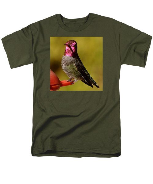 Men's T-Shirt  (Regular Fit) featuring the photograph Glimmering Red Headed Mail Anna by Jay Milo