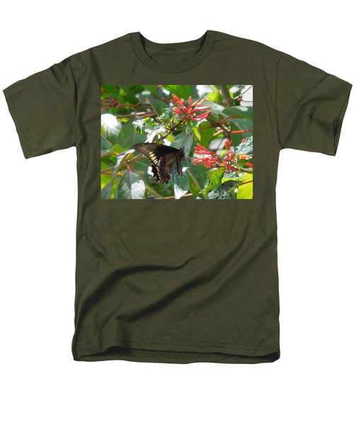 Men's T-Shirt  (Regular Fit) featuring the photograph Gold Rim Swallowtail by Ron Davidson