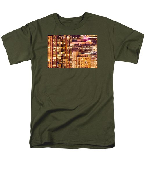 Men's T-Shirt  (Regular Fit) featuring the photograph City Of Vancouver - Golden City Of Lights Cdlxxxvii by Amyn Nasser