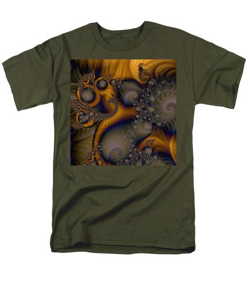Men's T-Shirt  (Regular Fit) featuring the digital art Golden Dream Of Fossils by Elizabeth McTaggart