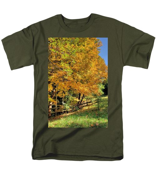 Men's T-Shirt  (Regular Fit) featuring the photograph Golden Fenceline by Gordon Elwell