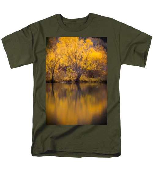 Men's T-Shirt  (Regular Fit) featuring the photograph Golden Pond by Steven Milner
