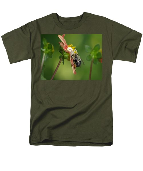 Men's T-Shirt  (Regular Fit) featuring the photograph Goldenrod Spider by James Peterson
