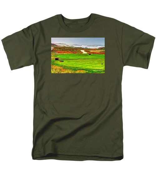 Men's T-Shirt  (Regular Fit) featuring the photograph Golf Tee At Spyglass Hill by Jim Carrell