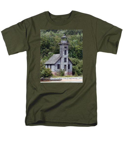 Grand Island East Channel Lighthouse Men's T-Shirt  (Regular Fit) by George Jones