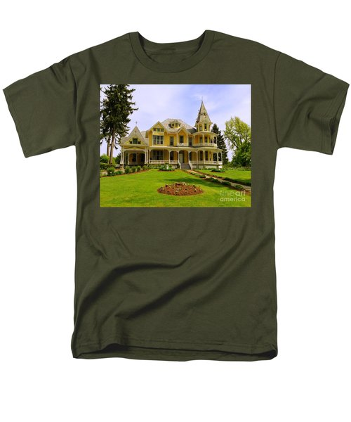 Men's T-Shirt  (Regular Fit) featuring the photograph Grand Yellow Victorian by Becky Lupe