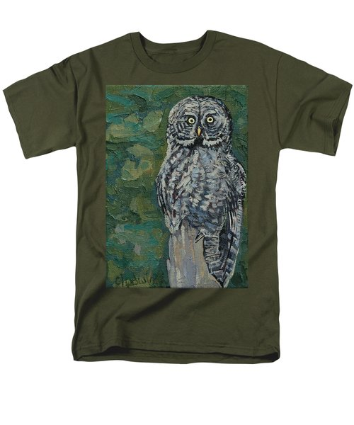 Great Gray Men's T-Shirt  (Regular Fit) by Phil Chadwick