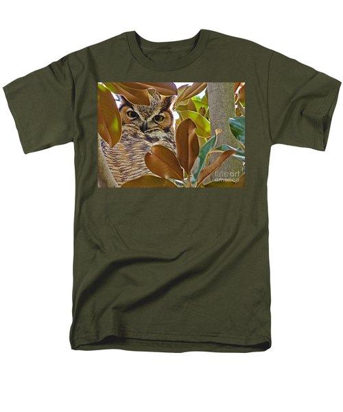 Men's T-Shirt  (Regular Fit) featuring the photograph Great Horned Owl by Meghan at FireBonnet Art