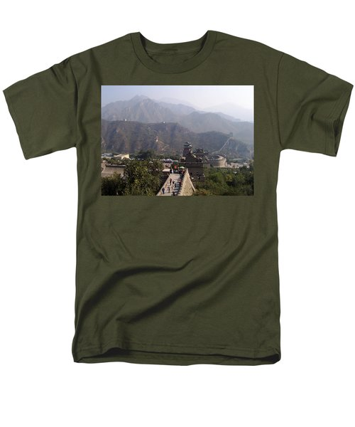 Great Wall Of China At Badaling Men's T-Shirt  (Regular Fit) by Debbie Oppermann