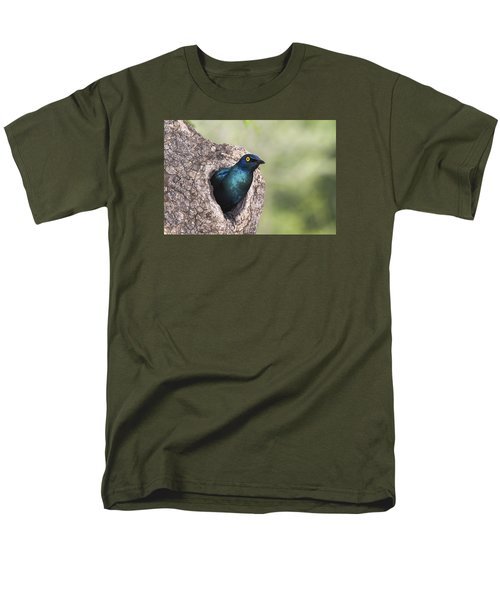 Greater Blue-eared Glossy-starling Men's T-Shirt  (Regular Fit) by Andrew Schoeman
