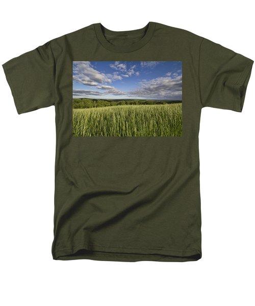 Green And Blue Men's T-Shirt  (Regular Fit) by Daniel Sheldon